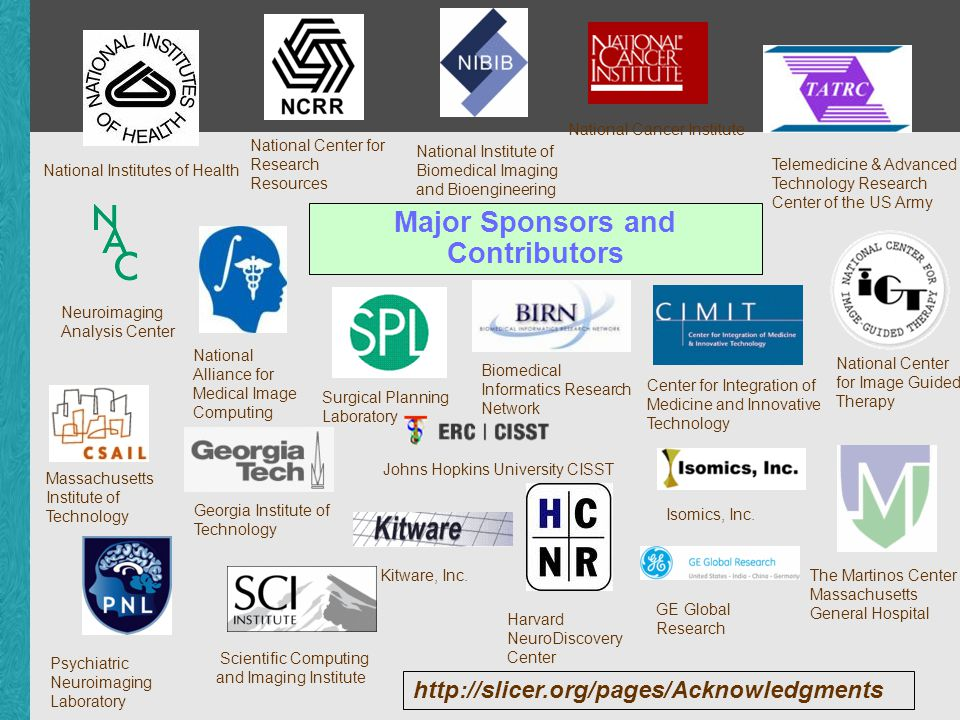 Major Sponsors and Contributors