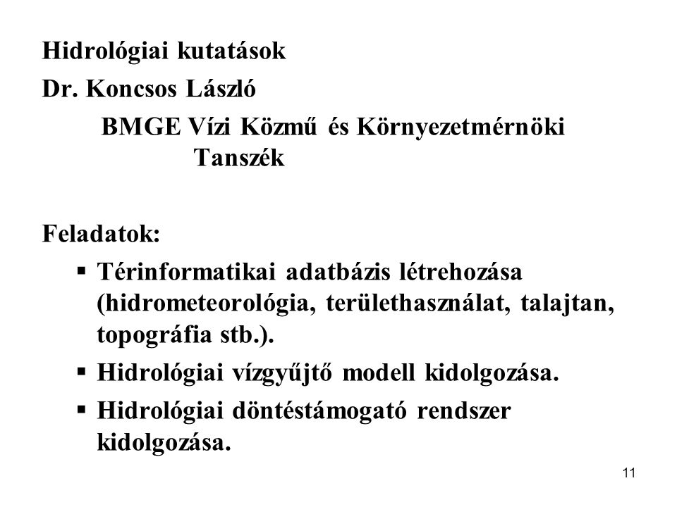 Hidrológiai kutatások
