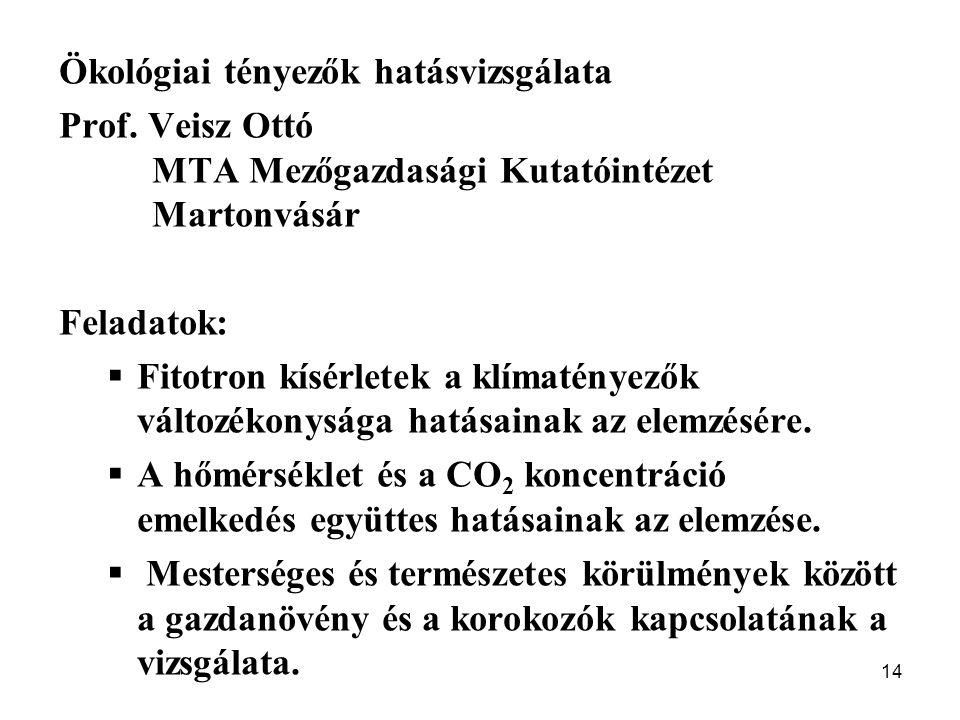 Ökológiai tényezők hatásvizsgálata