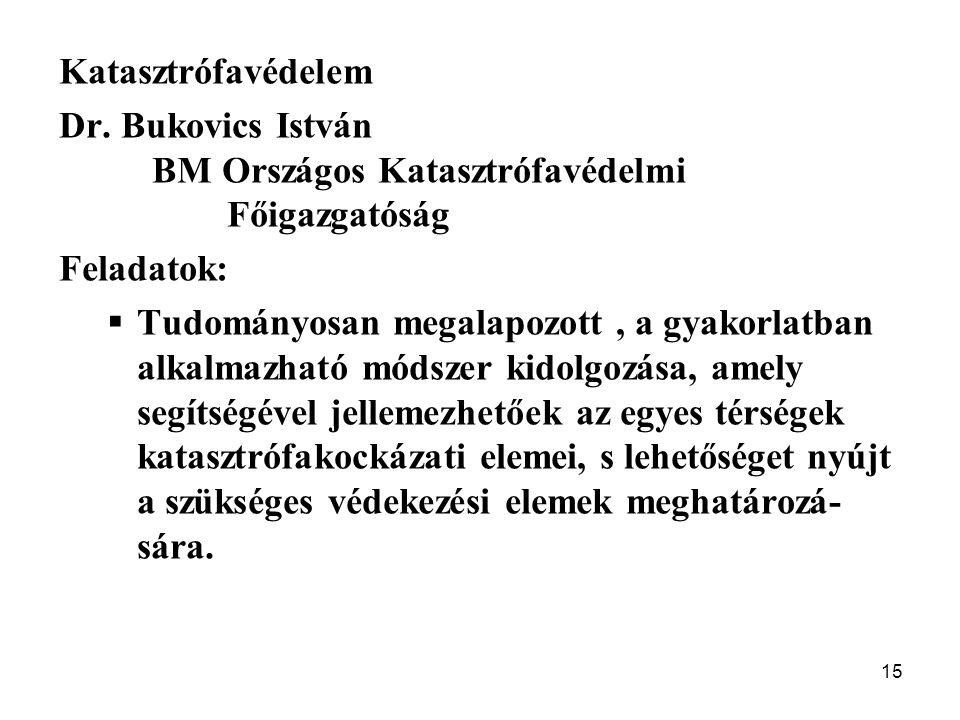 Katasztrófavédelem Dr. Bukovics István. BM Országos Katasztrófavédelmi. Főigazgatóság. Feladatok: