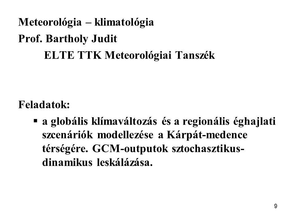Meteorológia – klimatológia