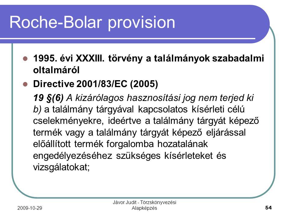 Roche-Bolar provision