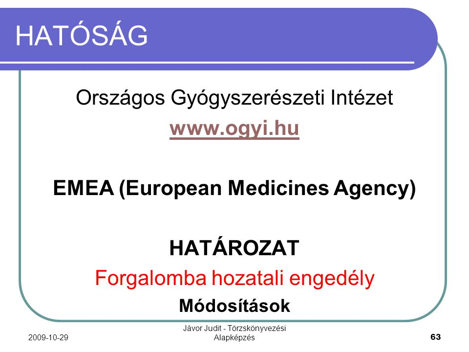 EMEA (European Medicines Agency)