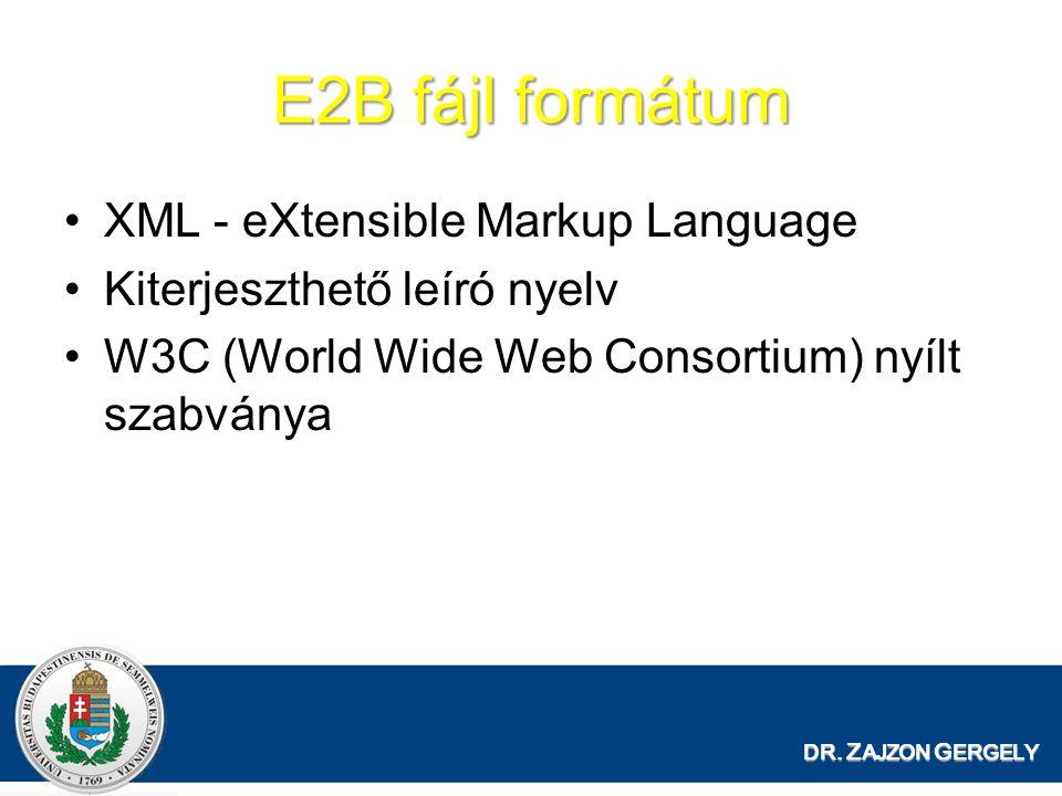 E2B fájl formátum XML - eXtensible Markup Language