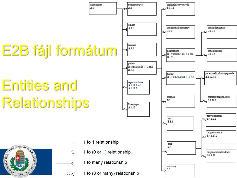 E2B fájl formátum Entities and Relationships