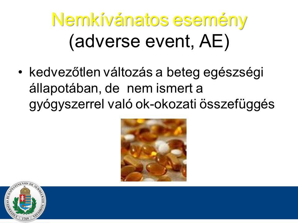 Nemkívánatos esemény (adverse event, AE)