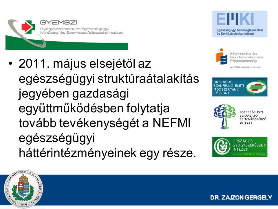 2011. május elsejétől az egészségügyi struktúraátalakítás jegyében gazdasági együttműködésben folytatja tovább tevékenységét a NEFMI egészségügyi háttérintézményeinek egy része.