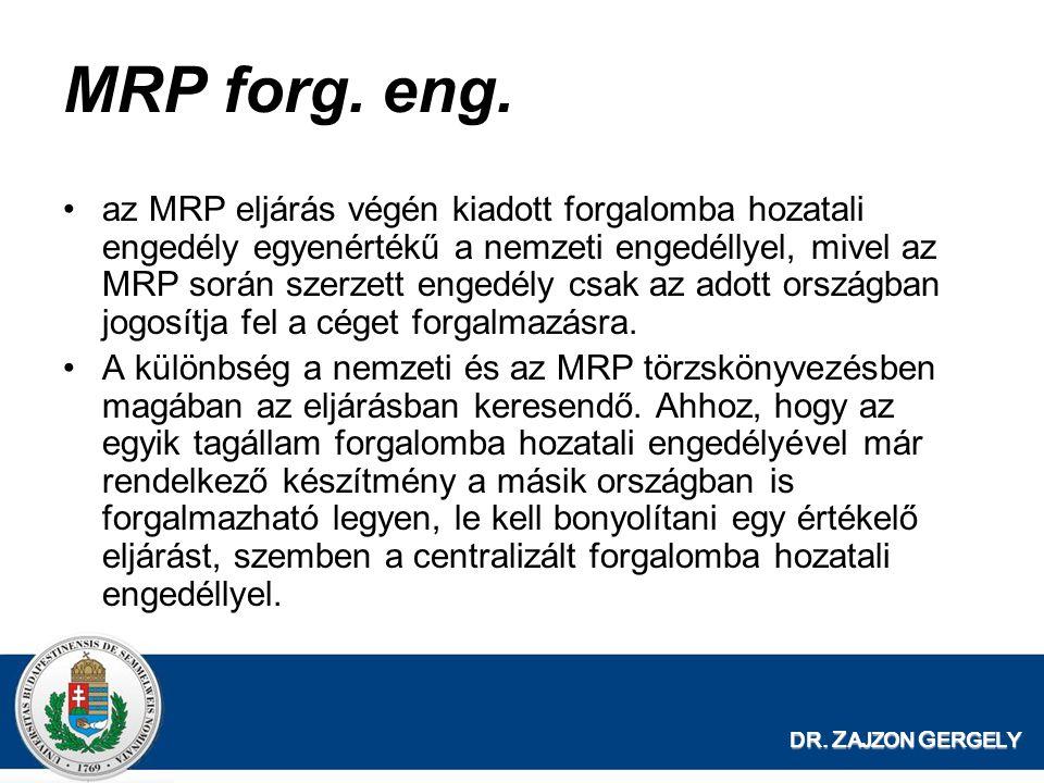 MRP forg. eng.