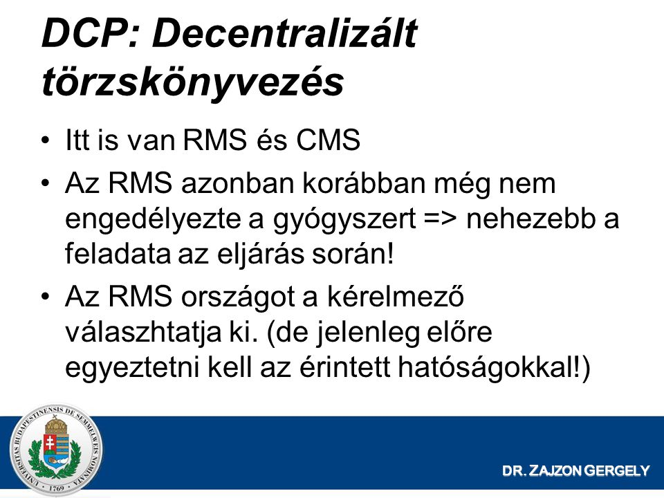 DCP: Decentralizált törzskönyvezés