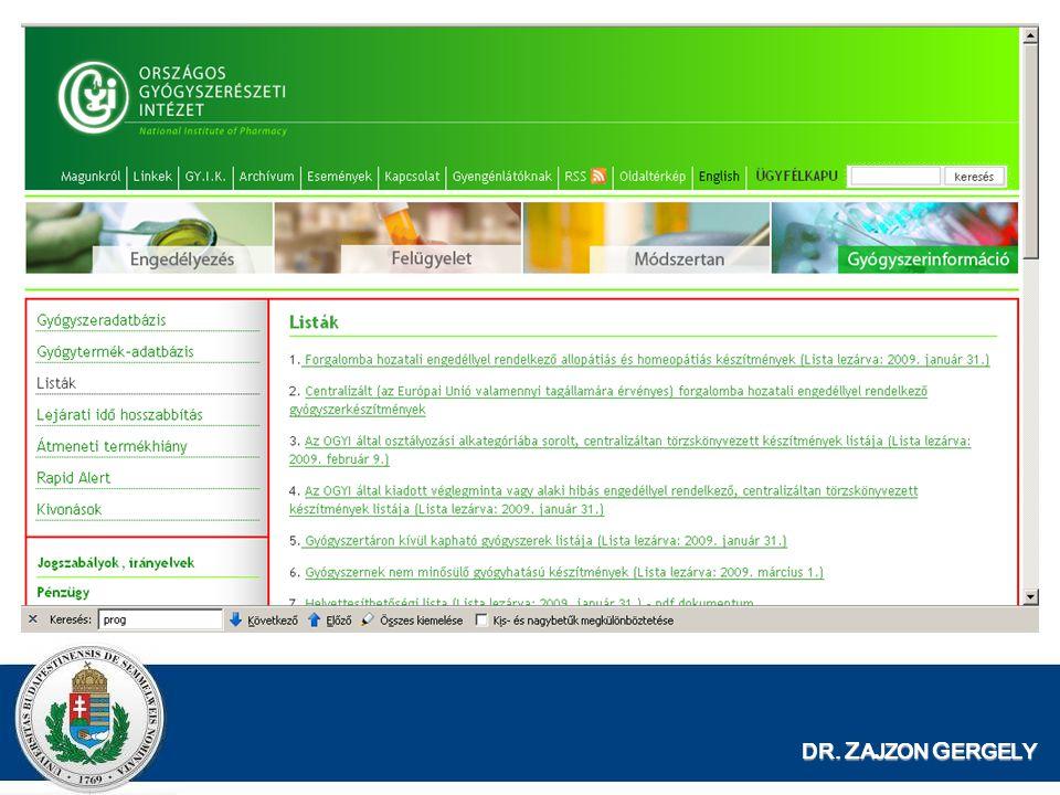 DR. ZAJZON GERGELY