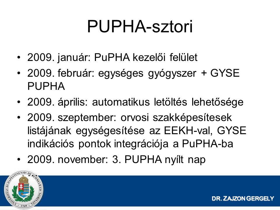 PUPHA-sztori 2009. január: PuPHA kezelői felület