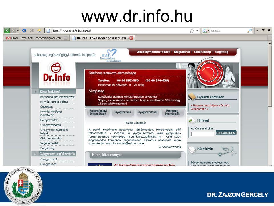 www.dr.info.hu DR. ZAJZON GERGELY