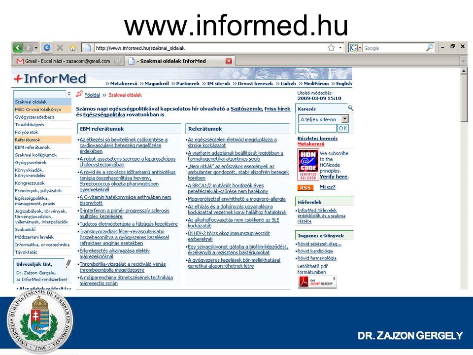 www.informed.hu DR. ZAJZON GERGELY
