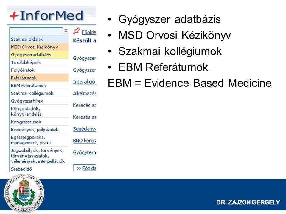 EBM = Evidence Based Medicine