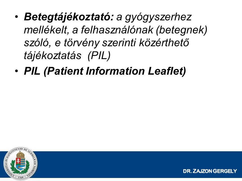 PIL (Patient Information Leaflet)