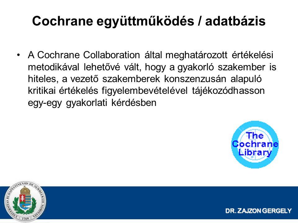 Cochrane együttműködés / adatbázis