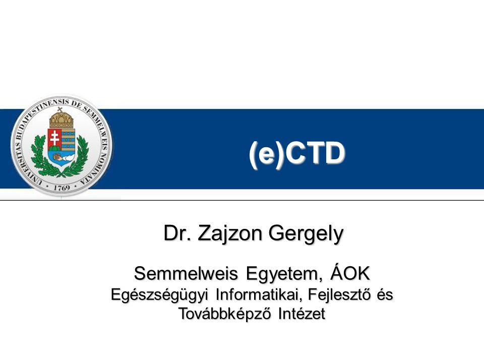 (e)CTD Dr. Zajzon Gergely