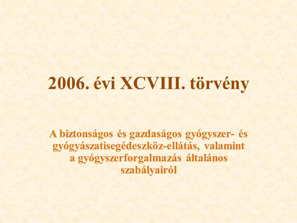 2006. évi XCVIII. törvény