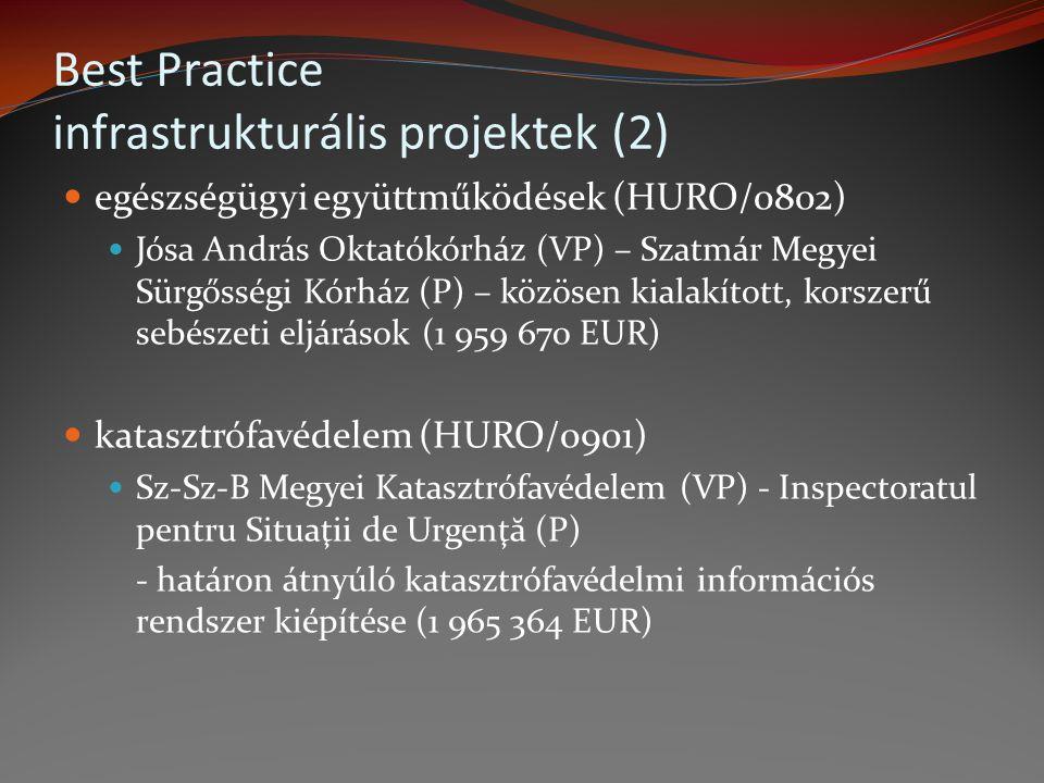 Best Practice infrastrukturális projektek (2)