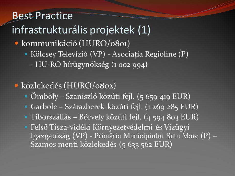 Best Practice infrastrukturális projektek (1)