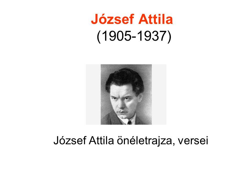 József Attila önéletrajza, versei