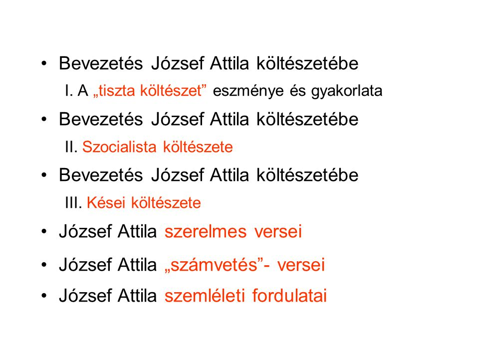 Bevezetés József Attila költészetébe