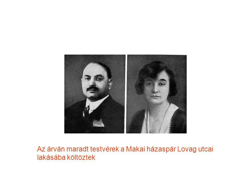 Az árván maradt testvérek a Makai házaspár Lovag utcai lakásába költöztek