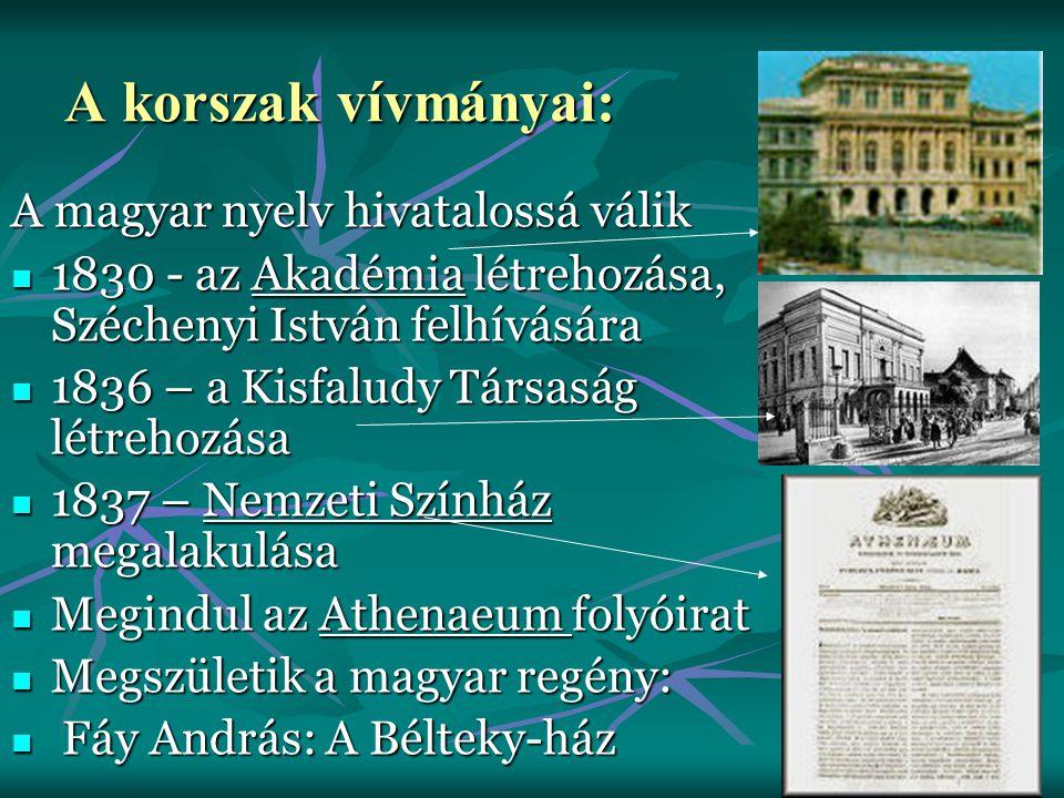A korszak vívmányai: A magyar nyelv hivatalossá válik