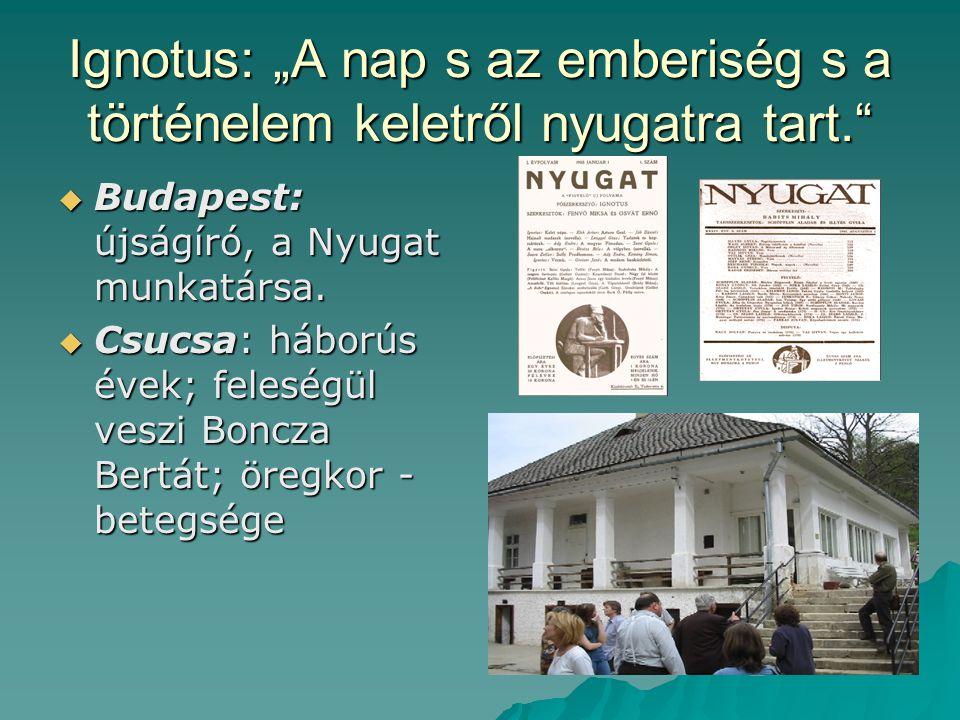 """Ignotus: """"A nap s az emberiség s a történelem keletről nyugatra tart."""