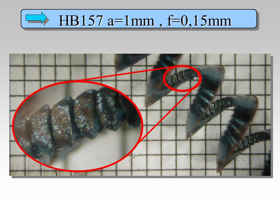 HB157 a=1mm , f=0,15mm