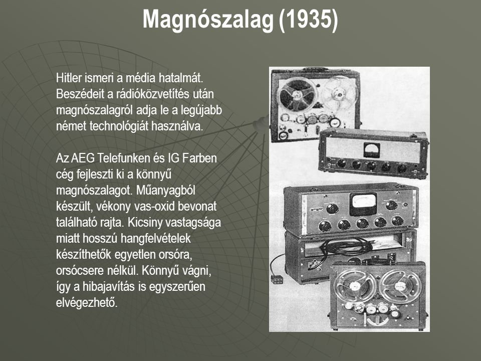 Magnószalag (1935)