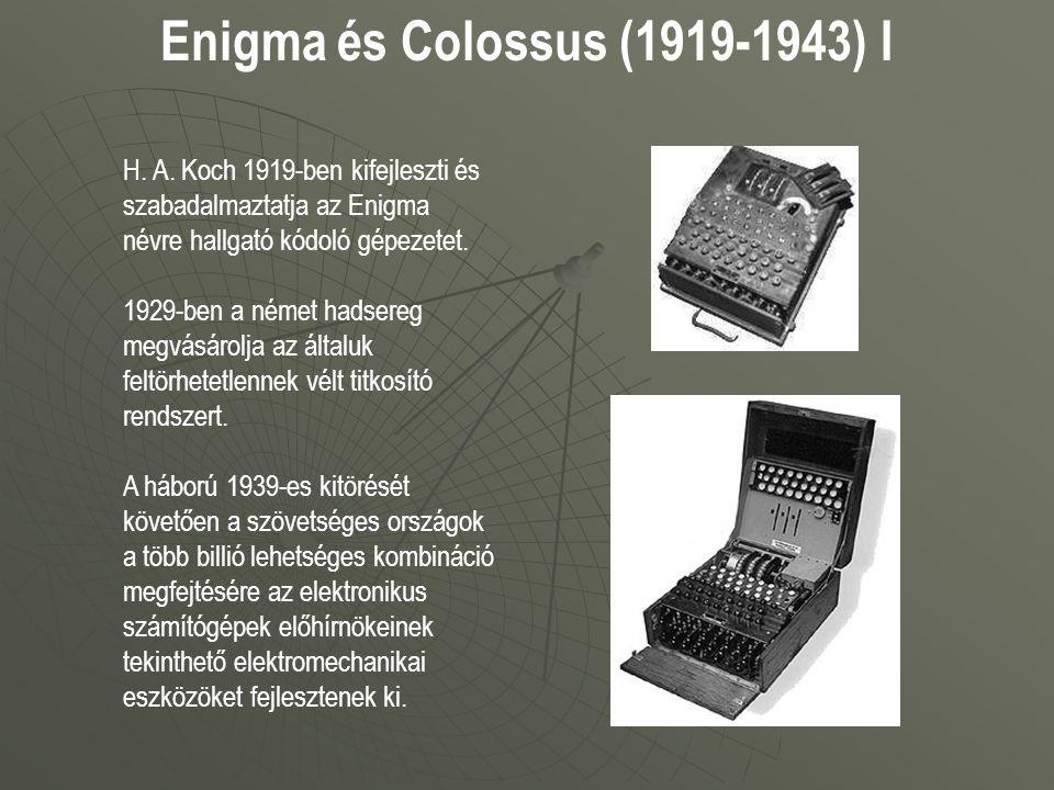 Enigma és Colossus (1919-1943) I