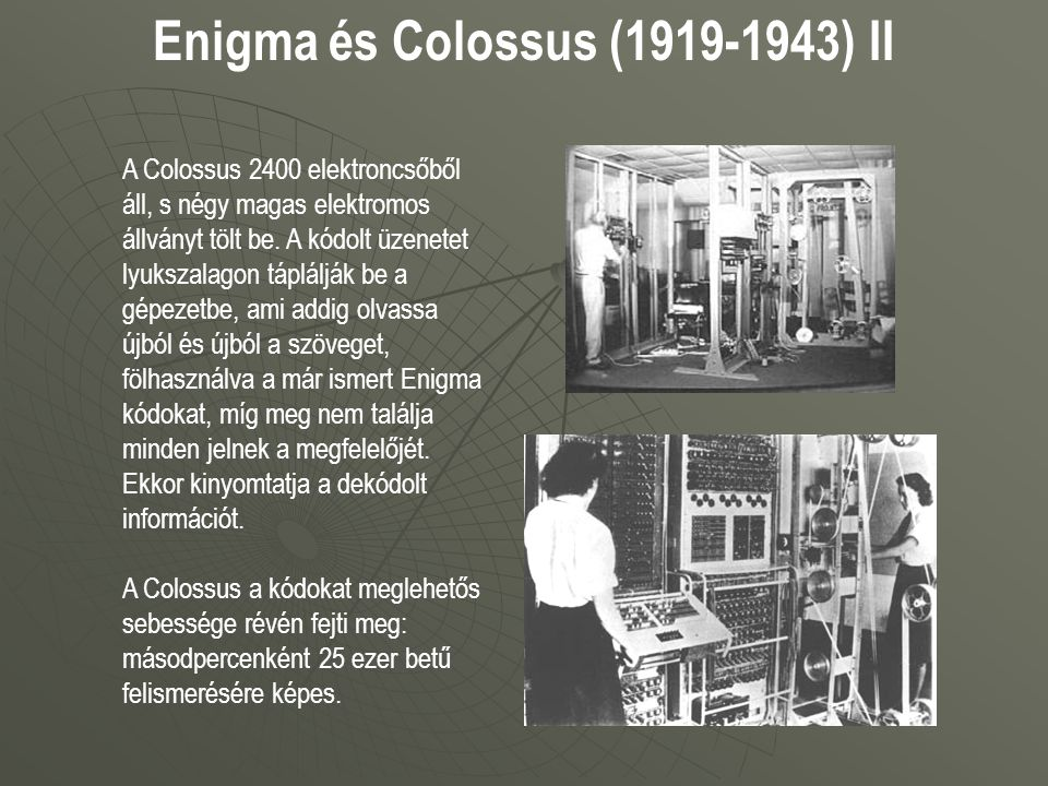 Enigma és Colossus (1919-1943) II