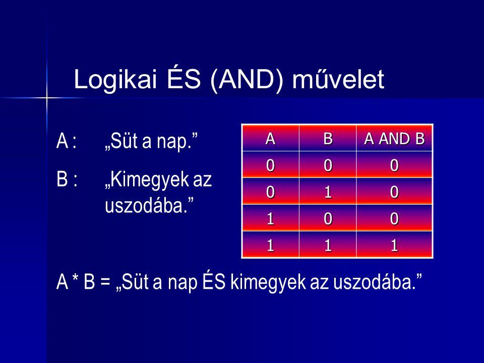 Logikai ÉS (AND) művelet