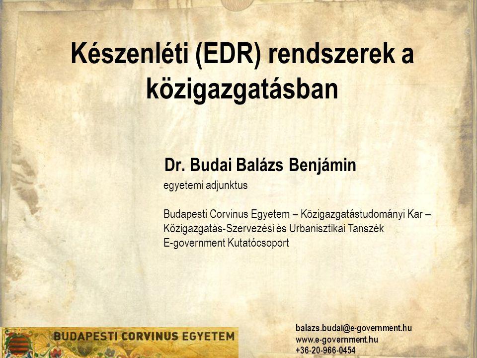 Készenléti (EDR) rendszerek a közigazgatásban