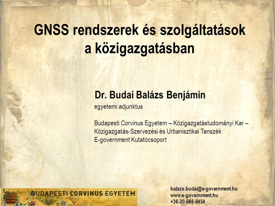 GNSS rendszerek és szolgáltatások a közigazgatásban