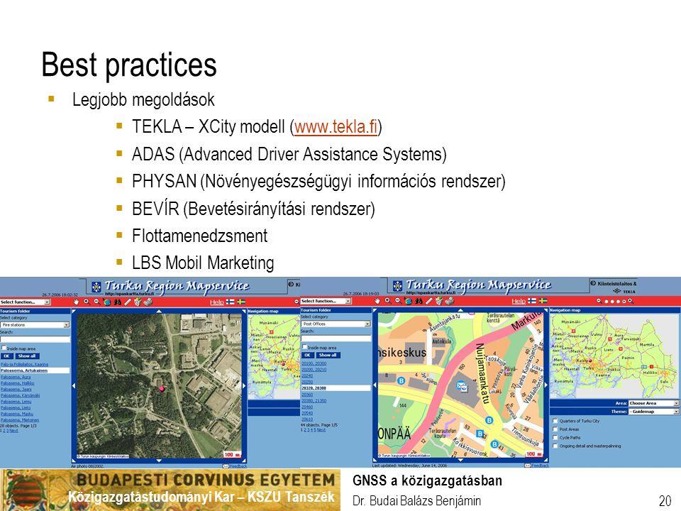 Best practices Legjobb megoldások TEKLA – XCity modell (www.tekla.fi)