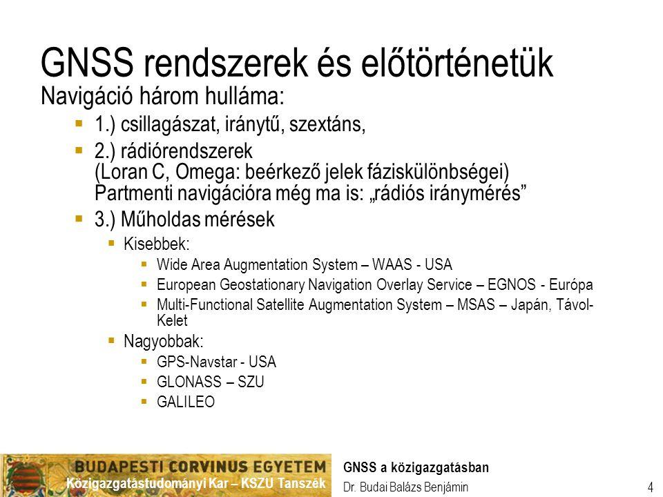 GNSS rendszerek és előtörténetük
