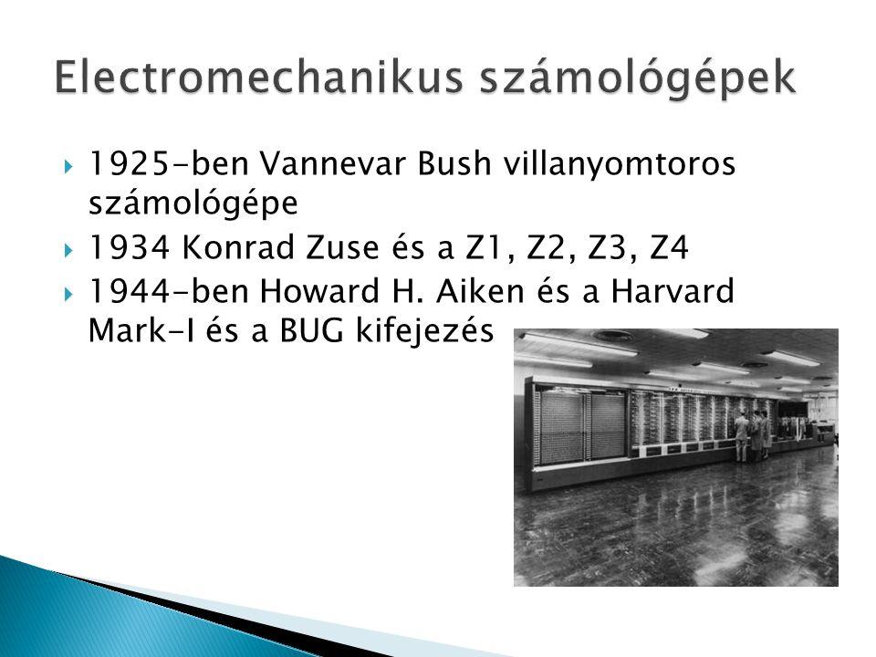 Electromechanikus számológépek