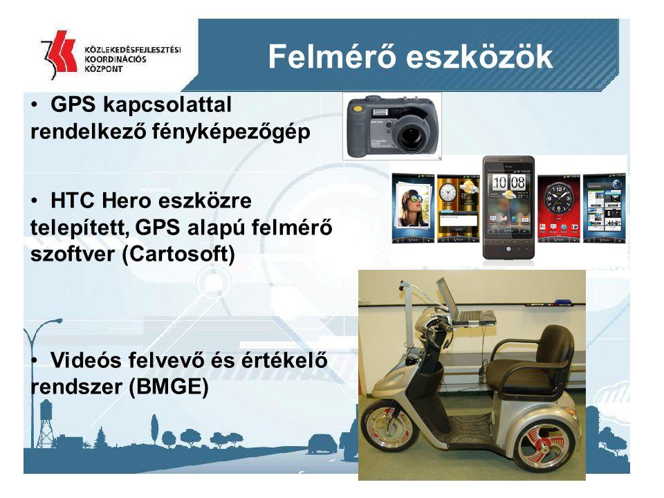 Felmérő eszközök GPS kapcsolattal rendelkező fényképezőgép