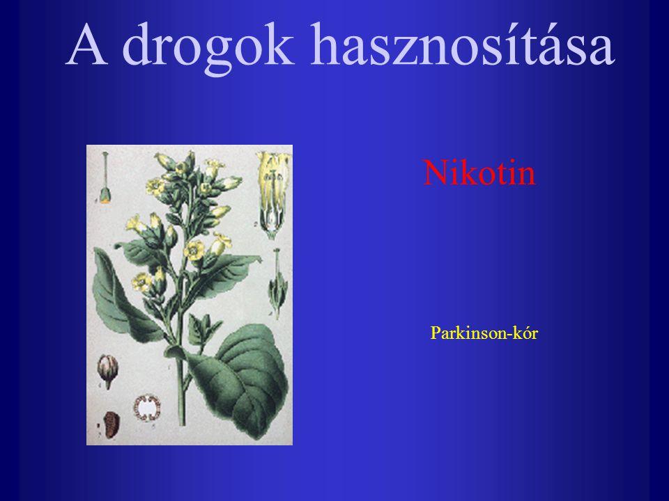 A drogok hasznosítása Nikotin Parkinson-kór