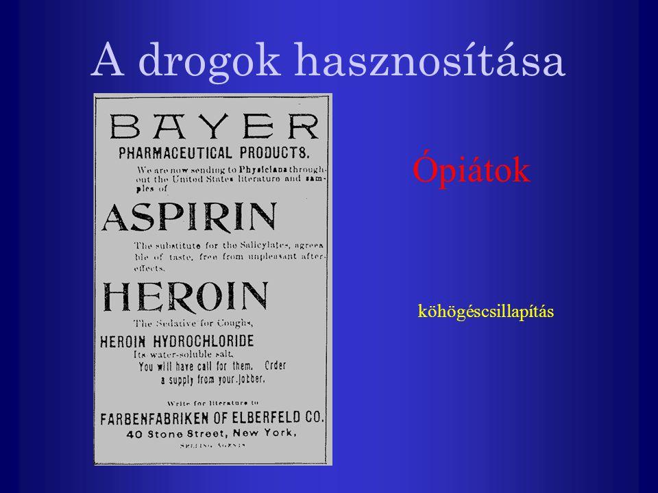 A drogok hasznosítása Ópiátok köhögéscsillapítás