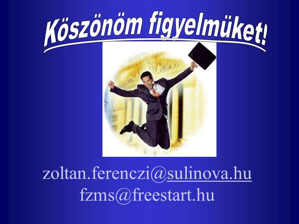 zoltan.ferenczi@sulinova.hu fzms@freestart.hu