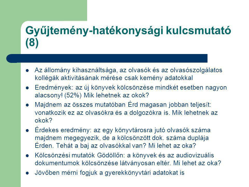 Gyűjtemény-hatékonysági kulcsmutató (8)