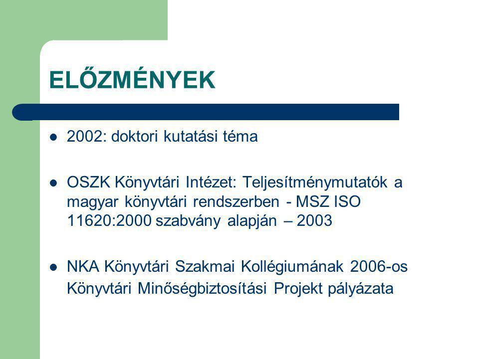 ELŐZMÉNYEK 2002: doktori kutatási téma