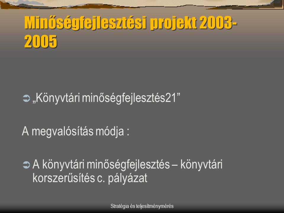 Minőségfejlesztési projekt 2003-2005