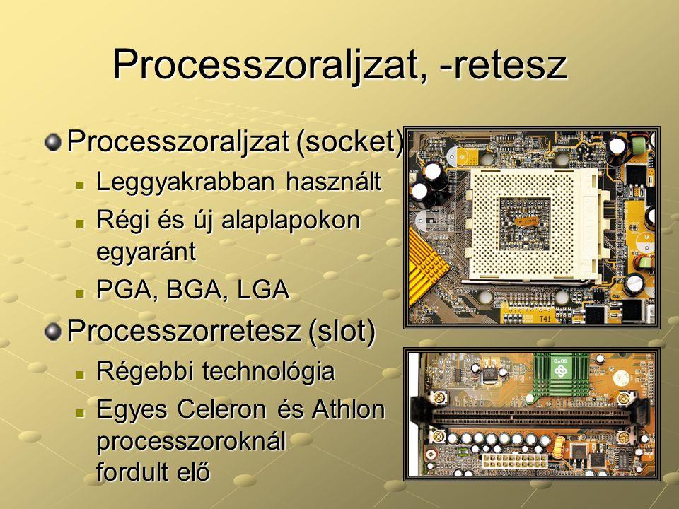Processzoraljzat, -retesz