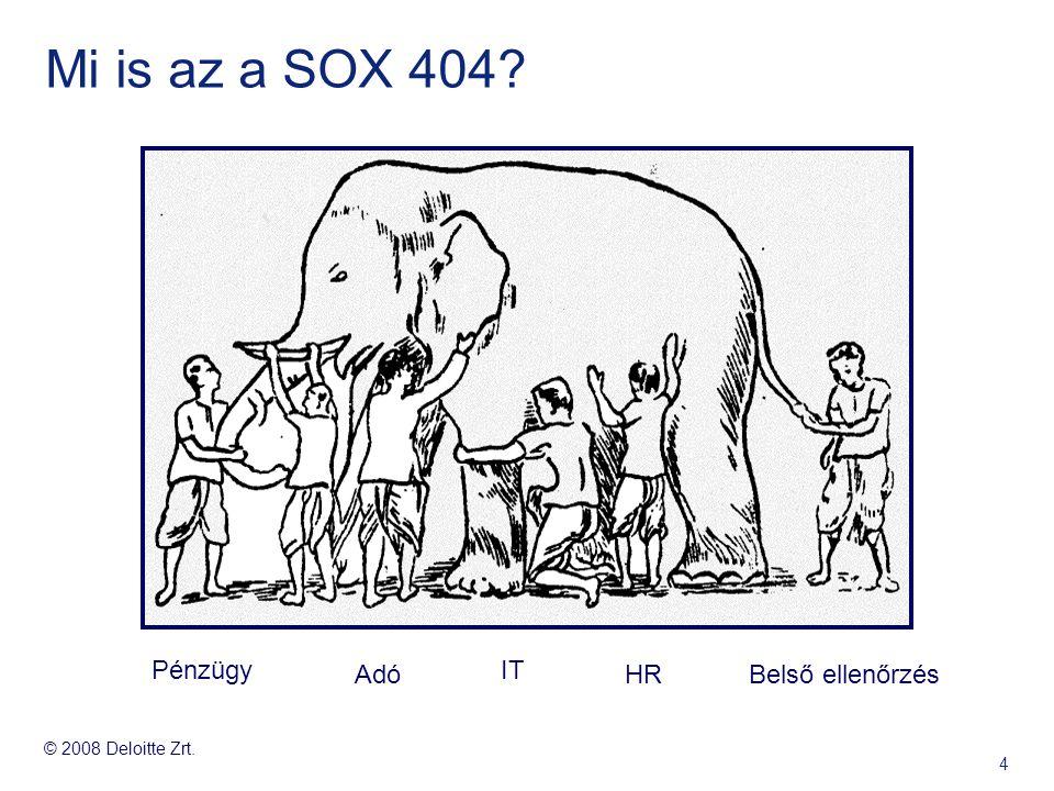 Mi is az a SOX 404 Pénzügy Adó IT HR Belső ellenőrzés