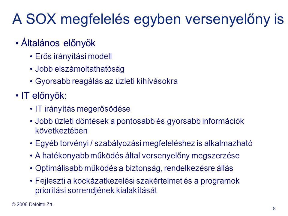 A SOX megfelelés egyben versenyelőny is