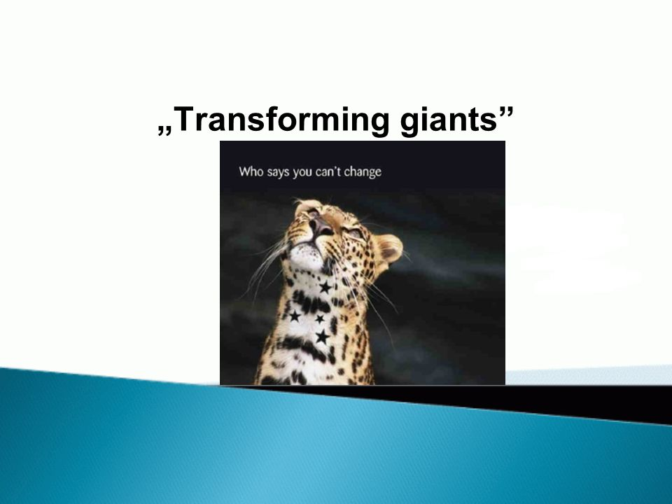 """Transforming giants"